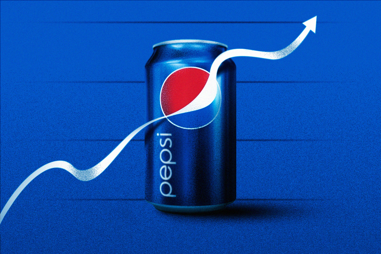 Pepsi can with up arrow