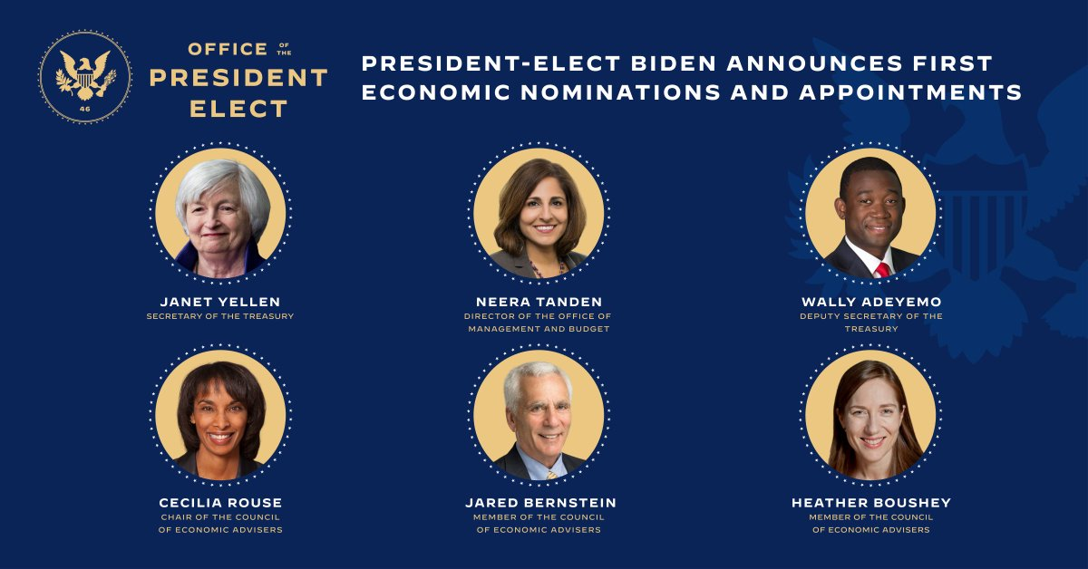 Biden Announces Economic Nominations and Appointments