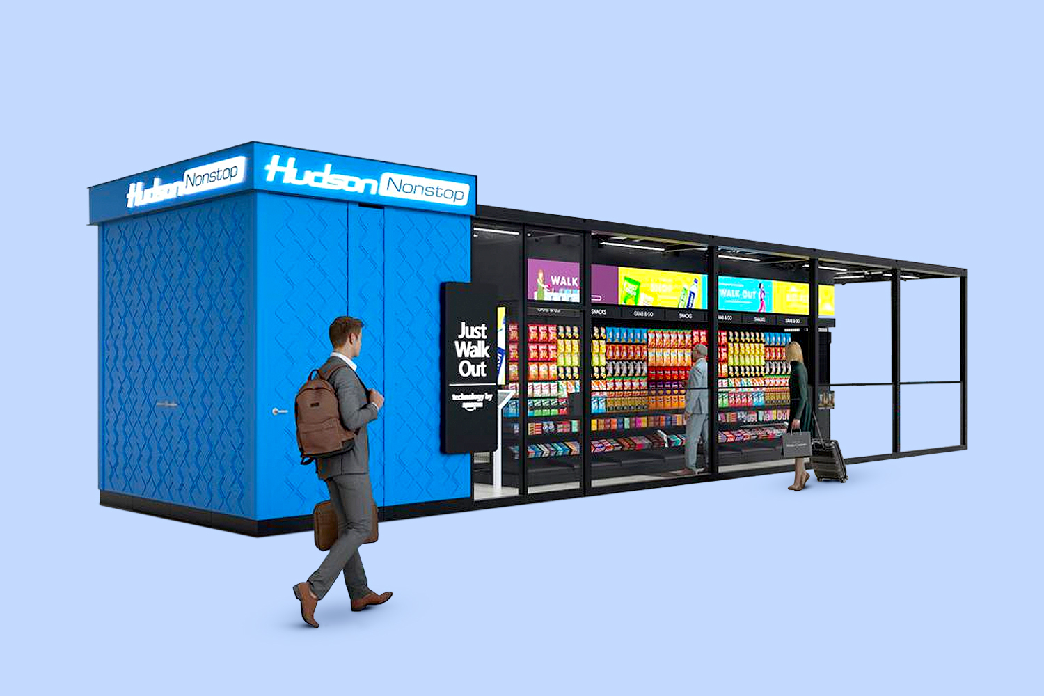 Hudson Will Use Amazon's 'Just Walk Out' Tech in Airport Stores