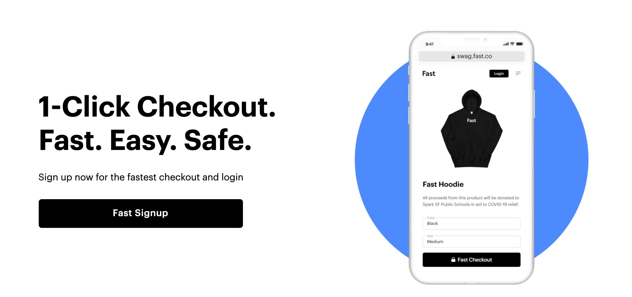 Fast e-commerce checkout service