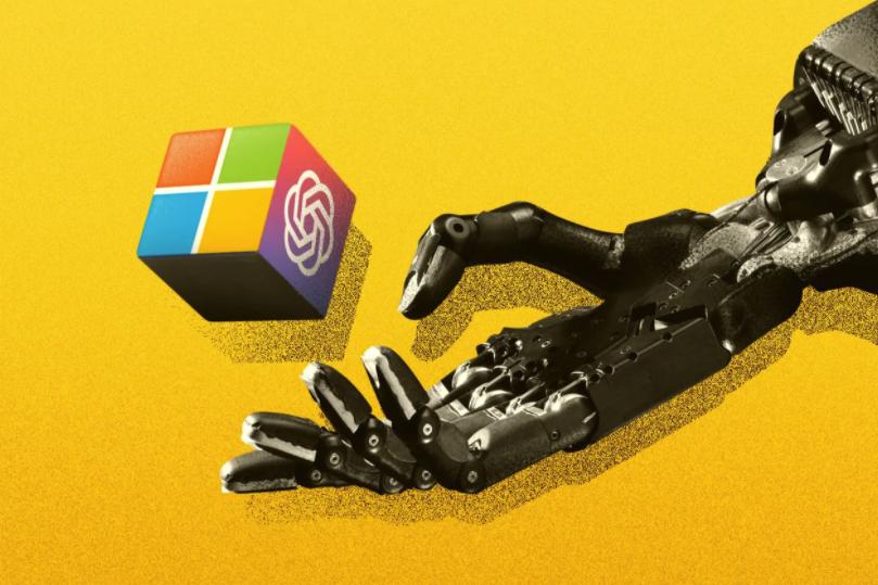 Microsoft robotic hand tossing cube